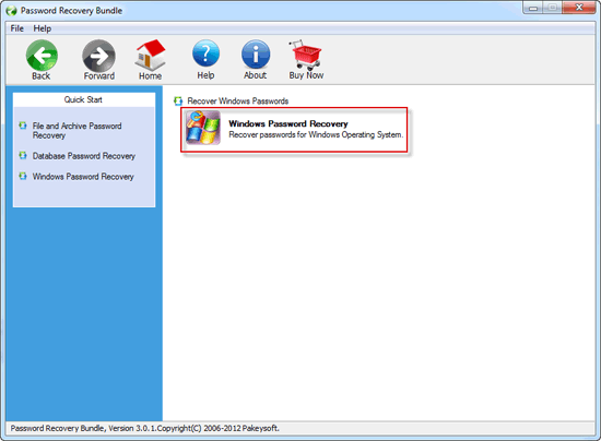 Password Recovery Bundle User Guide - Recover Windows Password