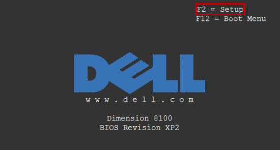 Boot from cd/dvd dell entry key