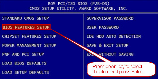 How to set Phoenix BIOS to boot from CD/DVD - Pakeysoft