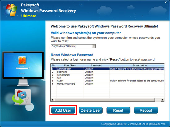 Bypass windows administrator password