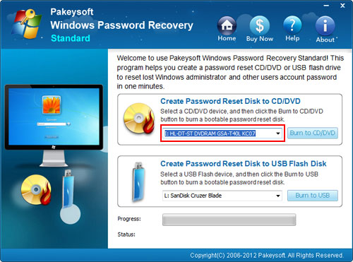How to recover password in windows vista
