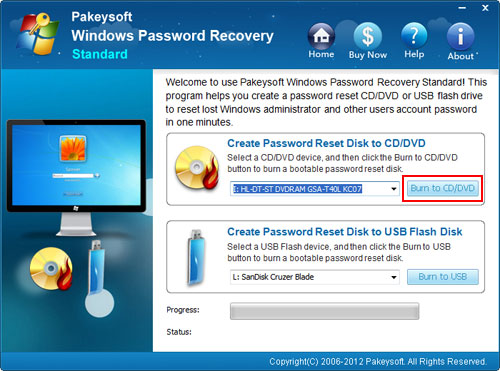 Recovering windows vista password
