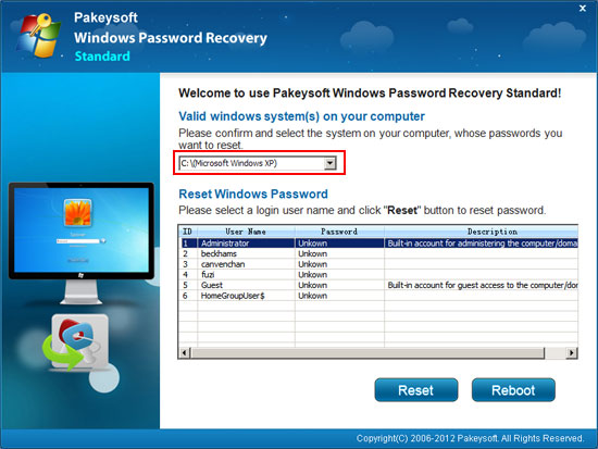 forgot xp password hack