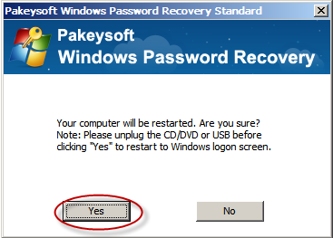 Recover windows xp administrator password