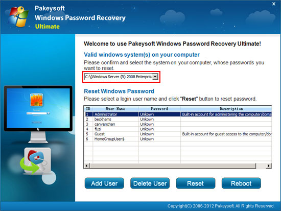 recover Active Directory password