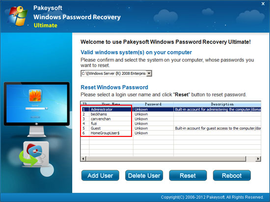 recover domin administrator password
