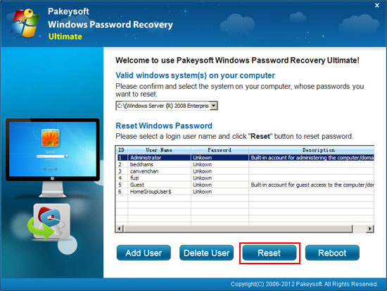 recover windows server domain administrator password