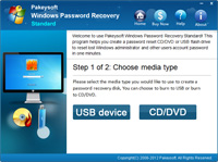 Windows Vista Password Recovery Screenshot