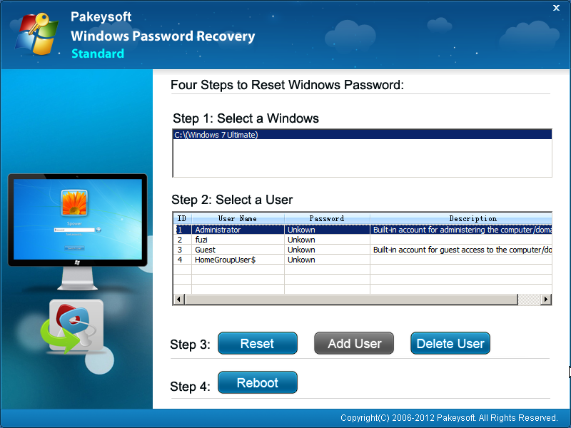 Windows Password Recovery for Mac