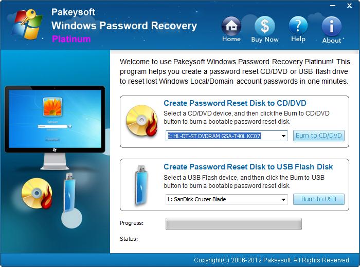 Pakeysoft windows password recovery free download