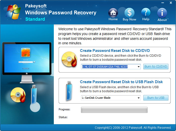It is easy to use Windows Password Recovery
