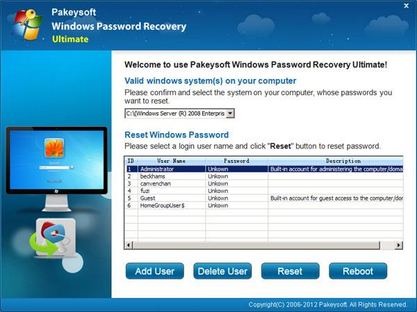 Windows Server 2003 Administrator Password